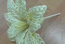 Kvety pletené z papiera-postup