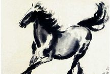Chinese Ink - Horses