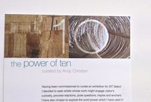 power of ten exhibition Stroud 2015 / An exhibition curated by Andy Christianas part of SITSelect Textile Festival, held at museum In The Park, Stroud, Gloucestershire. UK