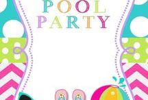 Festas na piscina