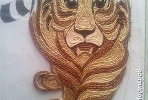 тигр филигрань