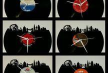 Lasercut London Skyline Vinyl clock