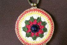 kalung rajut crochet necklace