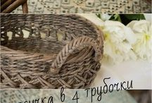 Návody na papírové pletení/Instructions on paper knitting