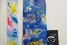 Silk tie, stropdassen handmade
