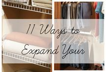 Family closet organization/ideas