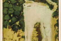 Cat Paintings & Drawings