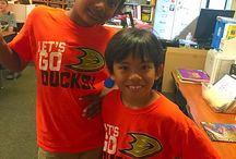 """#paintitorange / Woodbury supports our local NHL team, the Mighty Ducks! The Mighty Ducks has donated every student and staff member an orange """"Let's Go Ducks"""" t-shirt so we can Paint it Orange! Thank you @anaheimducks! We are proud to #paintitorange"""