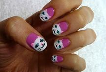 Cat Nail Art / by catsparella
