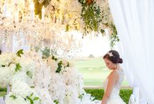 Garden Weddings / Sophisticated garden wedding ideas that marry the idea of gardens and lush interior accents to create a truly chic look.