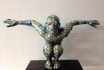 rabarama, scultura umana