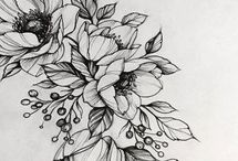kwiay rysunek