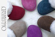 Old Friend Womens / Old Friend Footwear sheepskin slippers for women.