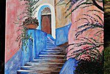 Obrazy / Malowane na płótnie i na drewnie obrazy inspirowane naturą, architekturą, ludźmi ...