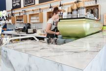 Formica 180fx - Cafe Biskit / Cafe Biskit, Parnell, Auckland featuring Formica 180fx Carerra Marble