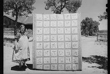 """Historic Quilt Pictures / George Santayana once said that, """"Those who cannot remember their history are doomed to repeat it."""" The only problem with these older quilts, is that I wouldn't mind repeating their construction by my hands!"""
