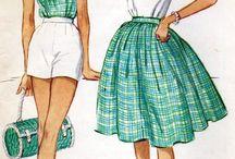vintage sewing ilustrations