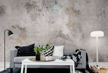 Behang woonkamer