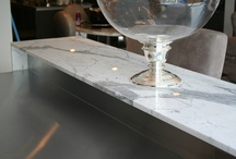 Bar / Limestone, marble, granite and other natural stone in home bars and restaurant settings.