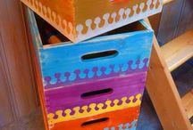 Cajas de frutas / Ideas para reutilizar cajas de frutas o de vino