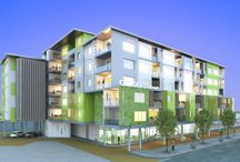Living Space Apartments / living spaces to flow naturally to each apartments .
