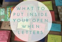 Ideas for Open when... letters