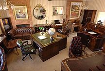 Traditional Study Room / Traditional English Study Furniture for the Home and Office. Southampton UK