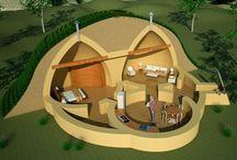 Eco houses / Cob houses, yurts and other eco houses.