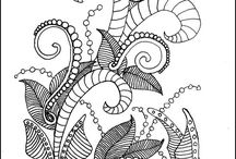 Drawing Zentangle, Doodles, Tangles