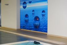 Akoestiek verbeteren in zwembad / het verbeteren van de akoestiek, galm absorberen,