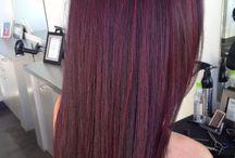 Mahogany/burgundy Hair