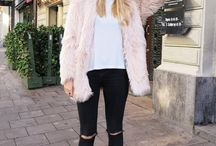 Fur jacket look
