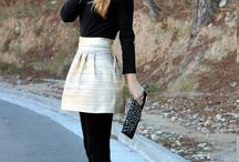 Black stockings paired outfits