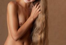 Nude, beautiful and long hair /