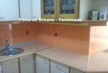 Pintura de Azulejos de Cocina y Wc / Fotografias de pintado de azulejos de cocinas y baños. Ver en la web: https://pinturasurbano.wordpress.com/fotos/pintado-de-azulejos-de-cocinas-y-banos/