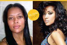 Transformação / Transformação de beleza, antes e depois do Salão Mil e  500