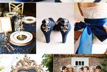 Blue Gold Wedding
