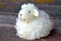 ovejas en fieltro