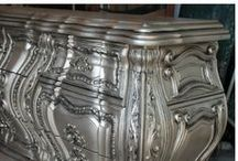 Silver paint finish