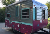 """The Rolling Rack / Lana's has gone mobile in the cutest vintage camper ever, called """"The Rolling Rack"""". We are popping up at wineries, breweries, festivals, art fairs all over! We also do private parties and come to your home or event! Just call 269-983-8777 or 269-345-3302 to book your event!"""