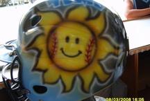 Softball helmets / It is about my daughter Savannah she loves Sabtball.