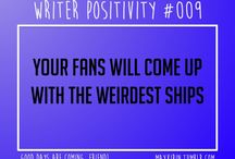 Writer positivity and problems
