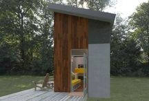 a.Micro-homes / Tiny, small, compact, micro, nano, and little houses that are modern, well-designed, thoughtful, and practical. Pinned by Steve Hall Architecture.