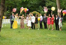 Garden wedding / Colorful ideas for a garden wedding party