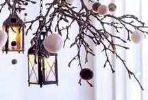 Christmas lamp decor