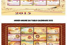 Sai Baba Table and Wall Calendars 2015 / Buy sai baba wall and table calendars online by visitng saigeeta.org