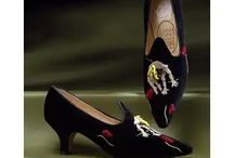 Shoes with embroidery