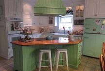 What a Chill Color: Jadite Green / Showing off ideas for Retro Kitchen Designs based of the Jadite green option of our Big Chill Retro Line!  / by Big Chill