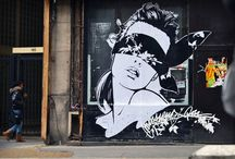 MONSIEUR QUI // Street artist creates stunning black and white collages and paintings  / Ever had the feeling, while walking down the street, among concrete gray walls, that something is lacking? Something to brighten your day? Or just to make you think?