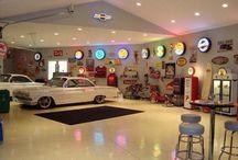 Garage und Autos